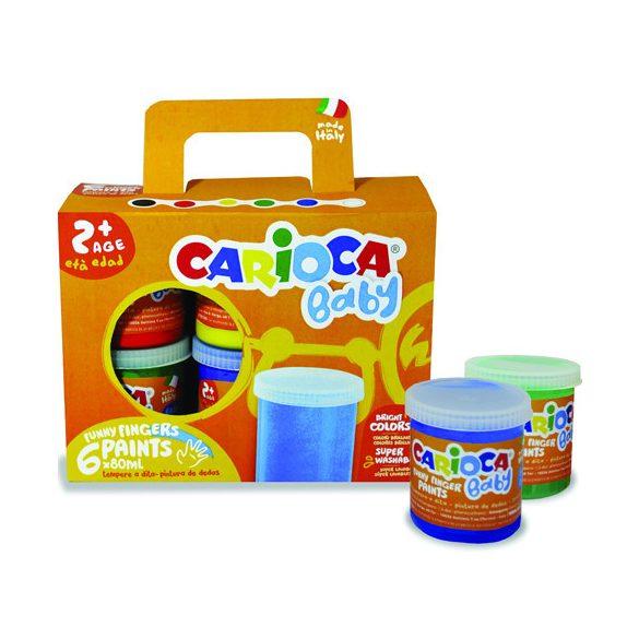 Festékek - Baby lemosható ujjfesték 6db-os szett - Carioca