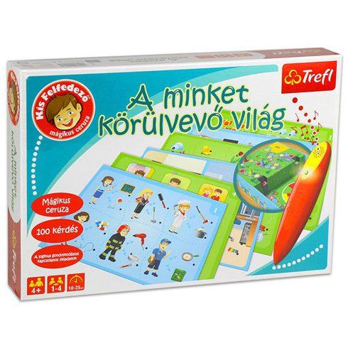 Társasjáték - Oktató - Fejlesztő - A minket körülvevő világ oktató fejlesztő játék Trefl kis felfe