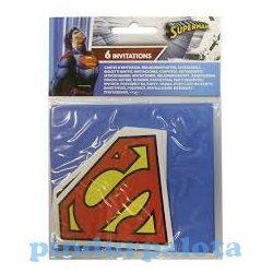 Party kellékek - Kiegészítők - Superman meghívók 6 db