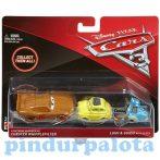 Játék autók - Autós játékok - Verdák 3 Villam McQueen Luigi és Guido karakter kisautó szet