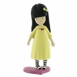 Műanyag babák - Gorjuss 3D műanyag figura - A legjobb barát grafika alapján sárga ruhában