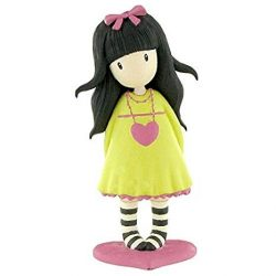 Műanyag babák - Gorjuss műanyag gyűjthető figura sárga ruhában a Szívélyes című grafika alapján