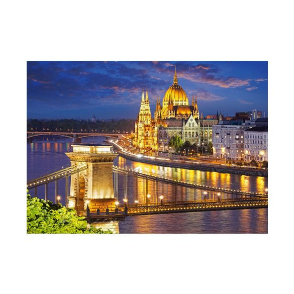 Nehéz puzzle - Éjszakai fénypompa Budapest 2000db-os puzzle