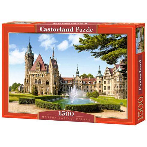 Nehéz puzzle - Nagy darabszámú kirakósok - Puzzle kastély Lengyelország Moszna 1500 db