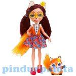 Műanyag babák - Felicity Fox baba állatkával - Mattel Enchantimals