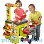 Játék konyhák - Smoby Elektronikus szupermarket zöld színben Simba Toys