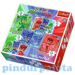 Gyerek Puzzle - Kirakósok - Pizsihősök 4 az 1-ben puzzle szett-Trefl