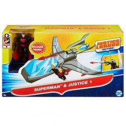 Szuperhősök - Igazság Ligája Superman figura és Justice 1 járgány