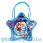 Ajándékok divatos termékek gyerekeknek - Jégvarázs csillag alakú kistáska hajdíszekkel
