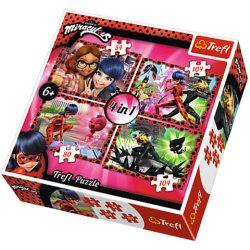 Gyerek Puzzle - Miraculous 4in1 puzzle Katicabogár és Fekete Macska
