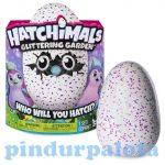 Interaktív játékok gyerekeknek - Hatchimals Csillogó Penguella interaktív plüss tojásban