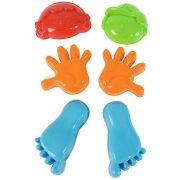 Kerti játékok - Homokozó készletek - Kezek és lábak homokozóforma szett