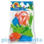 Kerti játékok - Homokozó készletek - Homokozó szett kezekkel lábakkal és eszközökkel