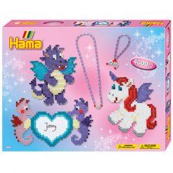 Fűzős játékok gyerekeknek - Hama Sárkány és unikornis vasalható gyöngy szett