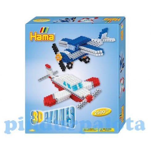 Fűzős játékok gyerekeknek - Hama 3D Repülők vasalható gyöngy szett 2500db-os Midi