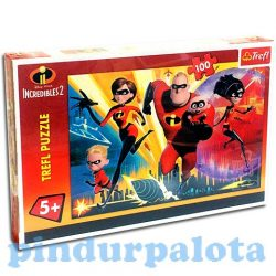 Incredibles 2 Hihetetlen család puzzle 100 db Trefl