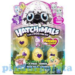 Gyűjthető figurák - Hatchimals gyüjthető figura meglepetéscsomag 4+1 db-os