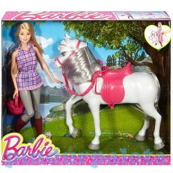 Mese figurák - Mese szereplők - Barbie és lova játékszett Mattel