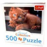 Junior puzzle - Animal Collection Barna kiscica 500db-os puzzle