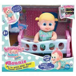 Műanyag babák - Bouncin Babies Mászkáló nevető Bounie baba