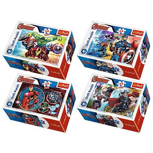 Gyerek Puzzle - Kirakósok - Marvel Bosszúállók mini Puzzle, 54 db-os, többféle, Trefl