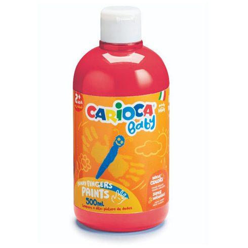 Festékek - Baby ujjfesték piros színben 500 ml-es flakonban Carioca