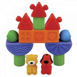 Építőjátékok - Ks Kids Vidámpark bébi építőkocka készlet