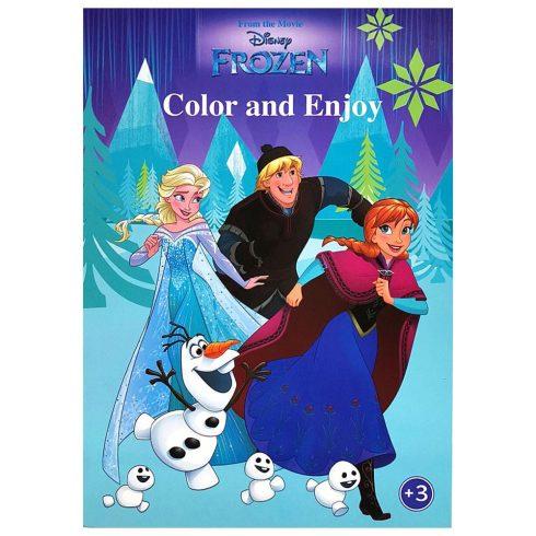 Foglalkoztató füzetek - Színezők - Disney Jégvarázs színező mintával - Kiddo