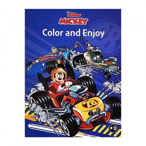 Foglalkoztató füzetek - Színezők - Disney Mickey és az autóversenyzők színező Kiddo