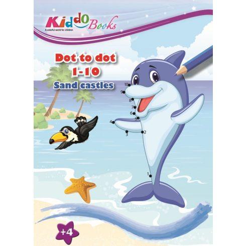 Iskola előkészítő foglalkoztató füzetek - Lépésről lépésre színező - Tengerpart- Kiddo Books