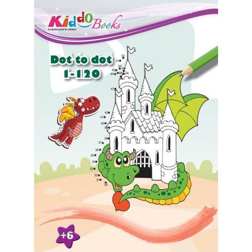 Iskola előkészítő foglalkoztató füzetek - Mágikus sárkányok pontról-pontra színező Kiddo Books