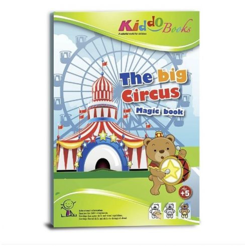 Foglalkoztató füzetek - Varázsszínező, Pontról pontra, Cirkusz, Kiddo Books