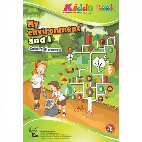 Foglalkoztató füzetek - Labirintus játék - Fejtörők gyerekeknek - A környezetem és én - Kiddo