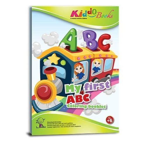 kiddo-iskola-elokszeito-foglalkoztato-fuzetek - Az első ABC-m, fejlesztő színező kisiskolásoknak