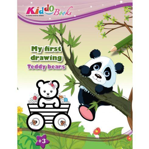 Mackó bocsok Első színezőm Kiddo Books ÚJ