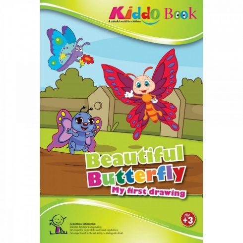 Foglalkoztató füzetek gyerekeknek - Színezők - Pillangós vastag kontúrral 3 éveseknek - Kiddo
