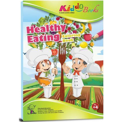Iskola előkészítő foglalkoztató füzetek - Egészséges ételek fejlesztő ovisoknak Kiddo Books