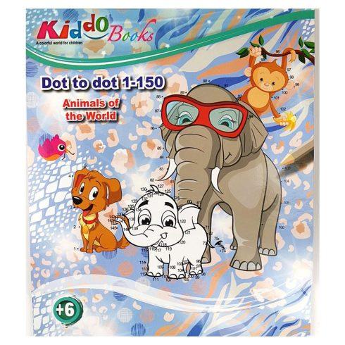 Iskolaelőkészítő foglalkoztató füzetek - Számos színező - A világ állatai Kiddo