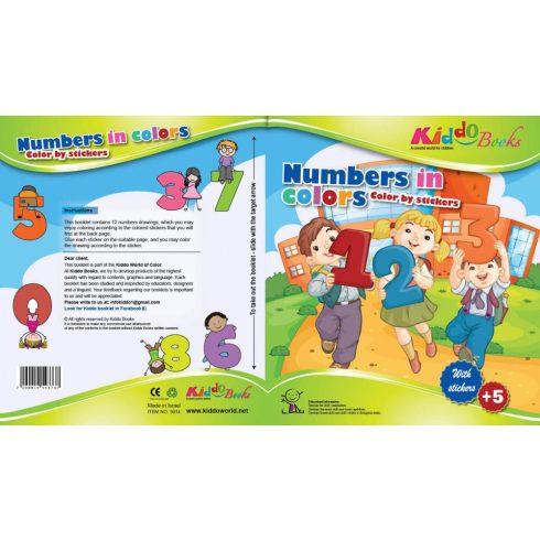 Foglalkoztató füzetek - Játék a számokkal színező füzet Kiddo