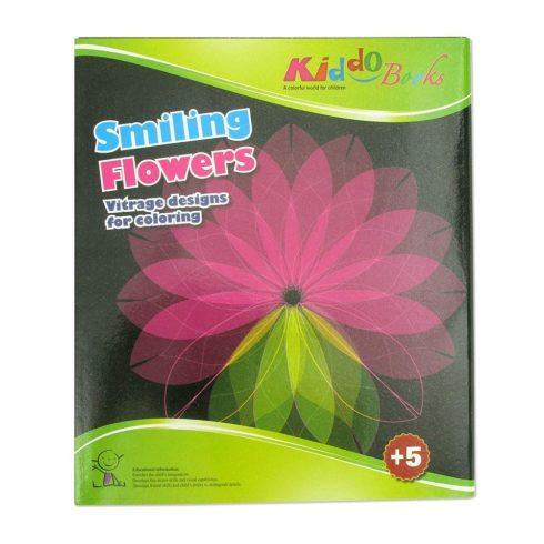 Iskola előkészítés - Vidám virágok - Vitrage színező - Ablakdísz készítő Kiddo Books