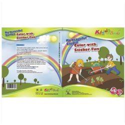 Foglalkoztató füzetek - Csodálatos kiskertem, Matricás színező, Kiddo Books