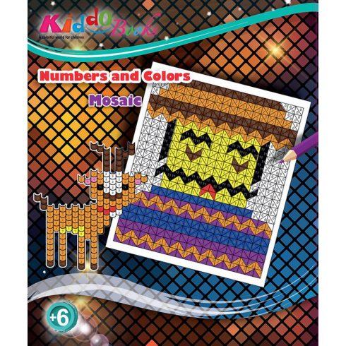 Iskola előkészítő foglalkoztató füzetek - Számok szerinti Mozaik színező Kiddo Books