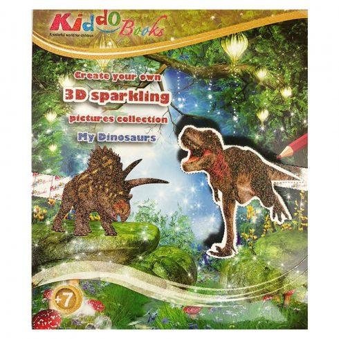 Foglalkoztató füzetek - Dínós játék - 3D foglalkoztató füzet Kiddo