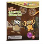 Foglalkoztató füzetek - Mókás szörnyek foglalkoztató füzet glitteres matricákkal, Kiddo Books