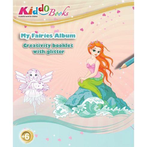 Iskola előkészítő foglalkoztató füzetek - Csillámos Tündérek foglalkoztató Kiddo Books