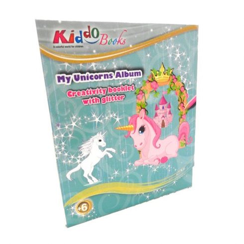 Foglalkoztató füzetek - Csillámló unikornisok foglalkoztató füzet, Kiddo Books