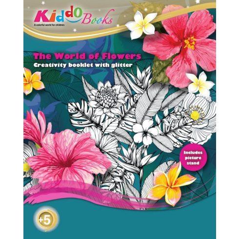 Iskola előkészítő foglalkoztató füzetek - Csodálatos virágok foglalkoztató Kiddo Books
