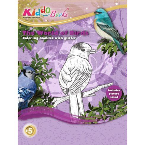 Iskola előkészítő foglalkoztató füzetek - Madarak világa foglalkoztató Kiddo Books