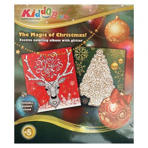 Színező füzetek - Glitteres karácsonyi színező Kiddo