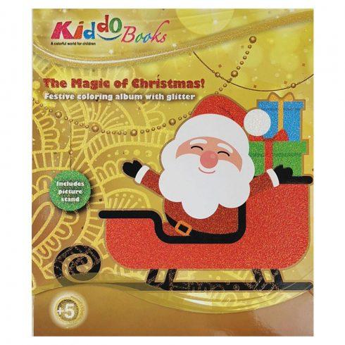 Foglalkoztató füzetek - Színezők - Karácsonyi színező ajándék készítő album Kiddo